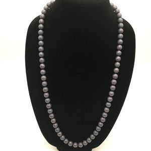Joan Rivers faux grey strand pearl necklace 28""